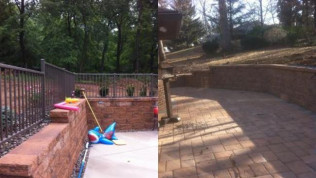 brick and natural retaining walls in york, pa