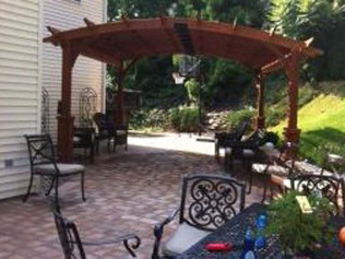 Brick paver patio with gazebo