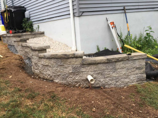 Completed New Retaining Wall